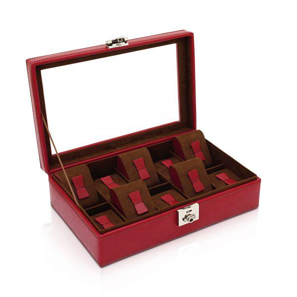 Boîte de Montre avec Fenêtre Cordoba 10 - Rouge