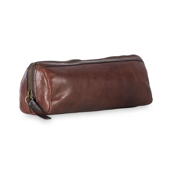 Cambridge Pencil Case - Red Brown